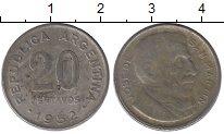 Изображение Дешевые монеты Аргентина 20 сентаво 1952 Медно-никель VG