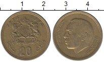 Изображение Дешевые монеты Марокко 20 сантим 1974 Бронза XF