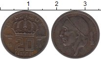 Изображение Дешевые монеты Бельгия 20 сентим 1958 Медь VF