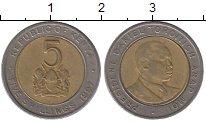 Изображение Дешевые монеты Кения 5 шиллингов 1997 Биметалл VF+
