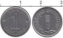 Изображение Дешевые монеты Франция 1 сантим 1968 нержавеющая сталь XF