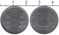 Изображение Барахолка Индия 1 рупия 2012 Медно-никель XF