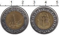 Изображение Барахолка Египет 1 фунт 2008 Биметалл XF