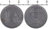Изображение Барахолка Индия 1 рупия 2009 Медно-никель VF