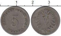 Изображение Дешевые монеты Германия 5 пфеннигов 1876 Железо VF-