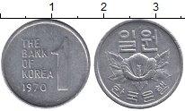 Изображение Барахолка Южная Корея 1 вон 1970 Алюминий XF-