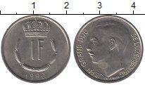 Изображение Дешевые монеты Люксембург 1 франк 1980 Медно-никель XF-