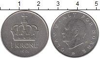 Изображение Дешевые монеты Норвегия 1 крона 1991 Медно-никель XF