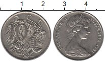 Изображение Дешевые монеты Австралия 10 центов 1981 Медно-никель XF