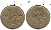 Изображение Дешевые монеты Литва 10 сенти 1993 Латунь VF+