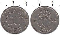 Изображение Дешевые монеты Швеция 50 эре 1980 Медно-никель XF
