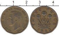Изображение Барахолка Великобритания 3 пенса 1943 Латунь XF