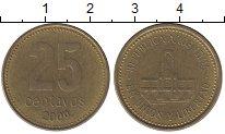 Изображение Дешевые монеты Аргентина 25 сентаво 2009 Латунь XF