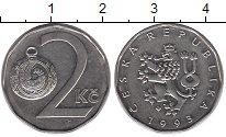 Изображение Дешевые монеты Чехия 2 кроны 1993 Сталь покрытая никелем XF+
