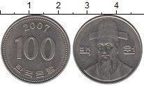Изображение Барахолка Южная Корея 100 вон 2007 Медно-никель XF