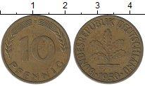 Изображение Дешевые монеты Германия 10 пфеннигов 1950 Латунь XF-