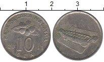 Изображение Дешевые монеты Малайзия 10 сен 2011 Медно-никель VF
