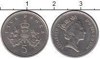 Изображение Барахолка Великобритания 5 пенсов 1996 Медно-никель XF
