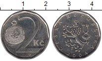 Изображение Дешевые монеты Чехия 2 кроны 2004 Сталь покрытая никелем VF+