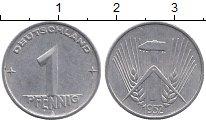 Изображение Барахолка ГДР 1 пфенниг 1952 Алюминий XF-