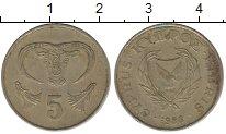 Изображение Дешевые монеты Кипр 5 центов 1983 Латунь VF+