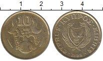 Изображение Дешевые монеты Кипр 10 центов 1988 Латунь XF-