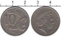 Изображение Дешевые монеты Австралия 10 центов 2001 Медно-никель XF-