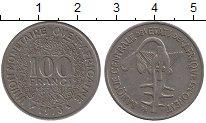 Изображение Барахолка Западно-Африканский Союз 100 франков 1973 Медно-никель XF-