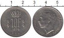 Изображение Дешевые монеты Люксембург 10 франков 1979 Медно-никель XF-