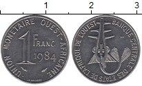 Изображение Барахолка Западно-Африканский Союз 1 франк 1984 Медно-никель XF