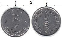 Изображение Дешевые монеты Франция 5 сантим 1962 Железо XF-