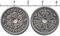 Изображение Барахолка Дания 1 крона 2003 Медно-никель XF