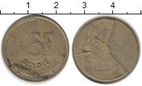 Изображение Барахолка Бельгия 5 франков 1986 Латунь VF