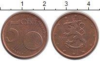 Изображение Барахолка Финляндия 5 евроцентов 2001 сталь с медным покрытием VF+