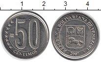 Изображение Дешевые монеты Венесуэла 50 сентим 2007 Медно-никель XF-