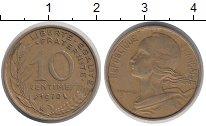 Изображение Дешевые монеты Франция 10 сентим 1970 Латунь VF+