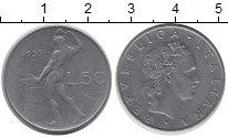 Изображение Дешевые монеты Италия 50 лир 1955 Железо VF+