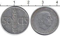 Изображение Дешевые монеты Испания 50 сентим 1966 Алюминий VF