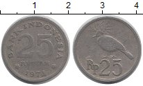 Изображение Барахолка Индонезия 25 рупий 1971 Алюминий F