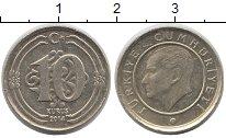 Изображение Дешевые монеты Турция 10 куруш 2014 Латунь VF+