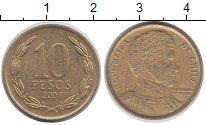 Изображение Дешевые монеты Чили 10 песо 2008 Латунь XF-