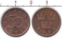 Изображение Дешевые монеты Швеция 50 эре 2007 Медь XF