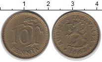 Изображение Дешевые монеты Финляндия 10 пенни 1963 Латунь XF