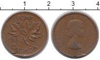 Изображение Дешевые монеты Канада 1 цент 1964 Медь VF