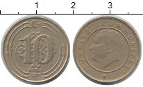 Изображение Дешевые монеты Турция 10 куруш 2009 Латунь VF