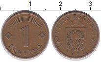 Изображение Барахолка Латвия 1 сантим 1997 Медь XF-