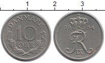 Изображение Барахолка Дания 10 эре 1964 Медно-никель XF-