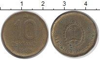 Изображение Дешевые монеты Аргентина 10 сентаво 1988 Латунь VG