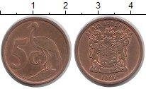 Изображение Барахолка ЮАР 5 центов 1999 Медь VF