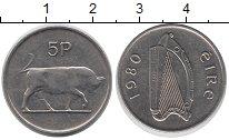 Изображение Барахолка Ирландия 5 пенсов 1980 Медно-никель XF